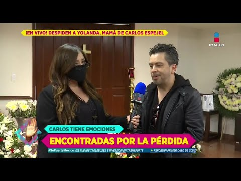 ¡Carlos Espejel habla tras el fallecimiento de su madre! | De Primera Mano