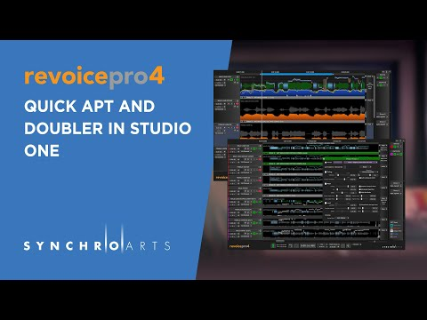Using Revoice Pro Quick APT and Doubler with Studio One