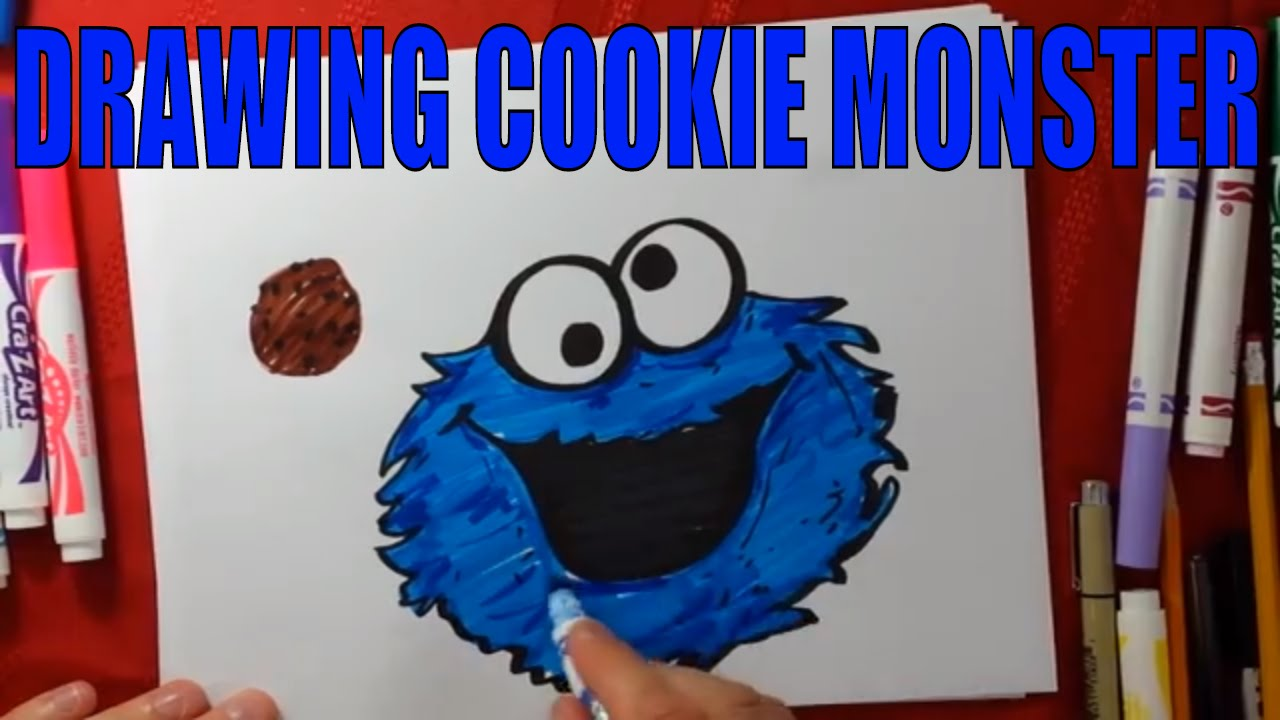 Sesame Street Cookie Monster Drawing How To Draw Youtube