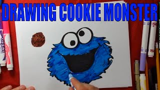 Sesame Street cookie monster drawing How to Draw
