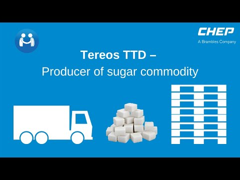 Tereos TTD – Producer of sugar commodity transports and displays its products on CHEP pallets