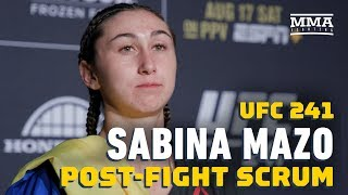 UFC 241: Sabina Mazo Surprised By Record-Setting Scorecards - MMA Fighting