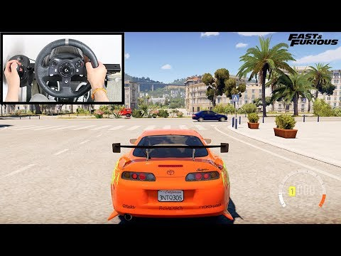 Forza Horizon 2 Paul Walker Toyota Supra (Steering Wheel + Shifter) Gameplay