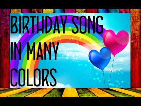 Birthday song in different languages
