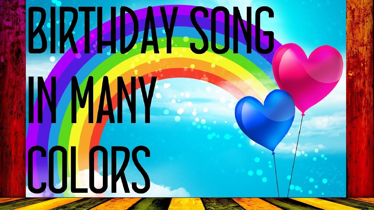 Birthday Song In Different Languages Youtube