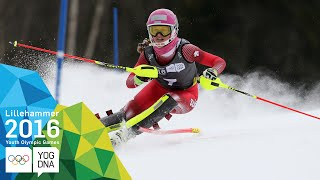 Slalom - Aline Danioth (SUI) wins Ladies' gold | Lillehammer 2016 Youth Olympic Games