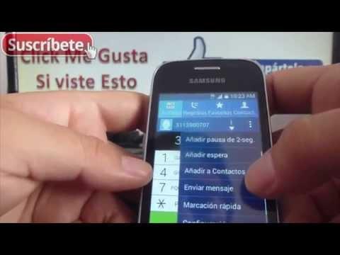 Samsung Galaxy Pocket 2 como guardar contactos telefono android