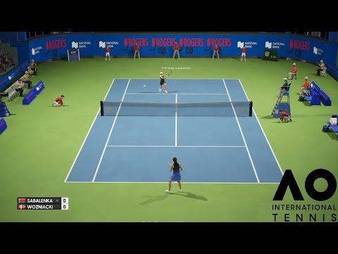 Aryna Sabalenka vs Caroline Wozniacki - AO International Tennis - PS4 Gameplay
