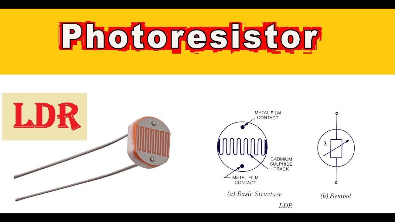 Light dependent resistor LDR Photoresistor - YouTube