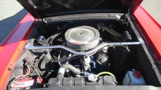 1965 Red Ford Mustang Fastback 4 speed Engine