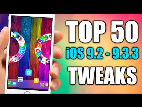 TOP 50 Cydia Tweaks Compatible With iOS 9.2 - 9.3.3 JAILBREAK