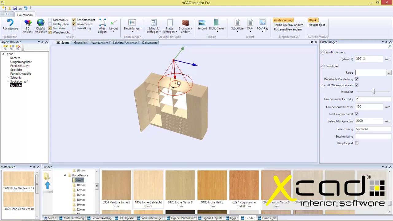 Mit xcad interior einen schrank zeichnen youtube for Schrank zeichnen