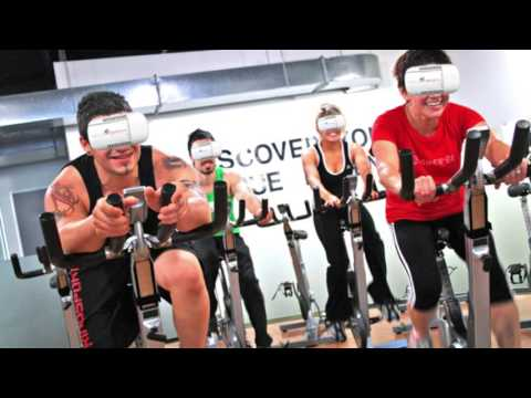 Veloporter and MoonCyclist - VR Fitness Wearable for Stationary Bike Workout