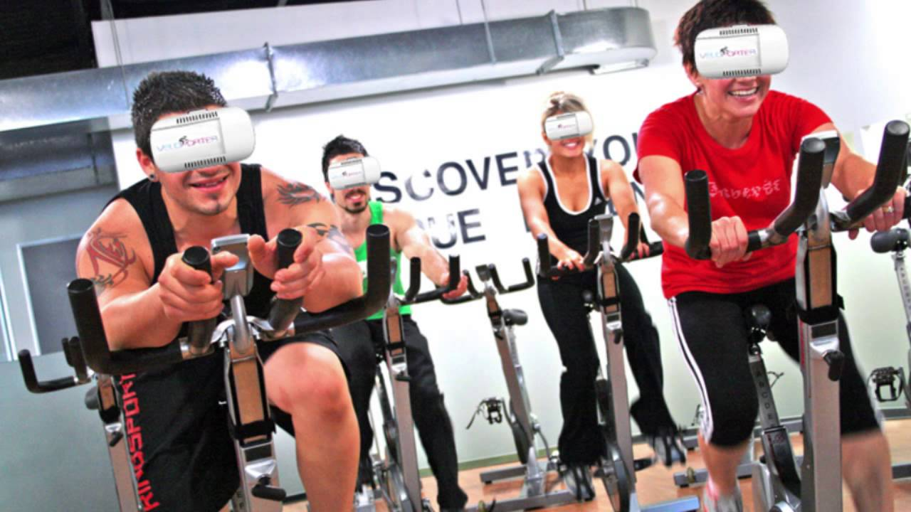 Veloporter And Mooncyclist Vr Fitness Wearable For Stationary