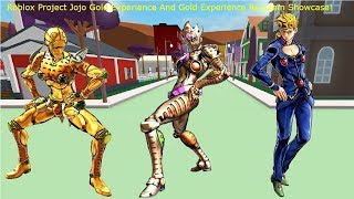 Roblox Project Jojo Gold Experience + Gold Experience Requiem Showcase!