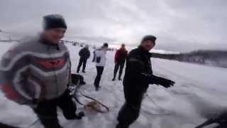 В Ойском озере водятся снегоходы