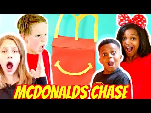 Thumbnail: McDonald's HAPPY MEAL NERF CHALLENGE! - Shiloh and Shasha ft SuperHeroKids - Onyx Kids