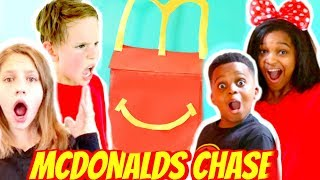 McDonald's HAPPY MEAL NERF CHALLENGE! - Shiloh and Shasha ft SuperHeroKids - Onyx Kids