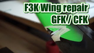 One way to repair a CFK wing after a midair (F3K, DLG, HLG, SAL)