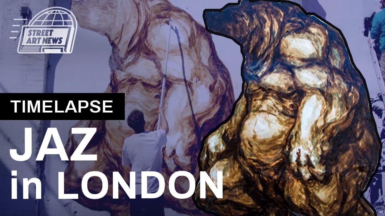Jaz Mural Timelapse London Shoreditch Youtube