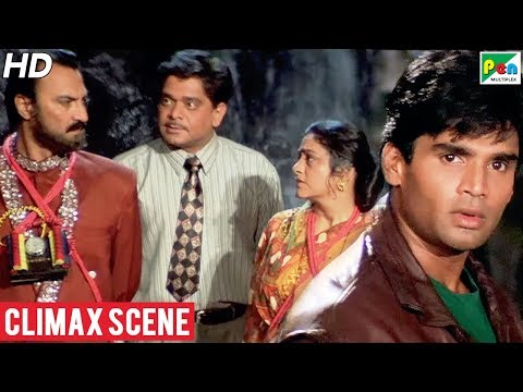 Gopi Kishan - Climax Scene | Popular Hindi Movie | Suniel Shetty, Karisma Kapoor