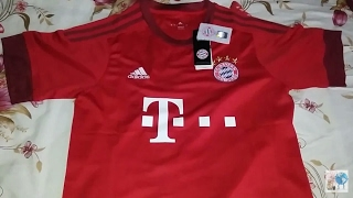 UNBOXING- Camisa Bayer de Munique 15 16 da China ... c5a5d3a53f0ce
