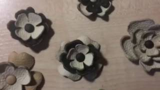 EASY LEATHER FLOWERS DIY