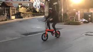 Riding S6 e bike in Italy