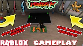ROBLOX | ASSASSIN: PLAYING WITH THE NEW BUNDLE KNIFE/PET & NEW ELITE CASE KNIVES (GAMEPLAY)
