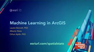 Machine Learning in ArcGIS