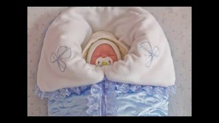 Конверт на выписку для новорожденного. Конверт - одеяло. Нарядный конверт.