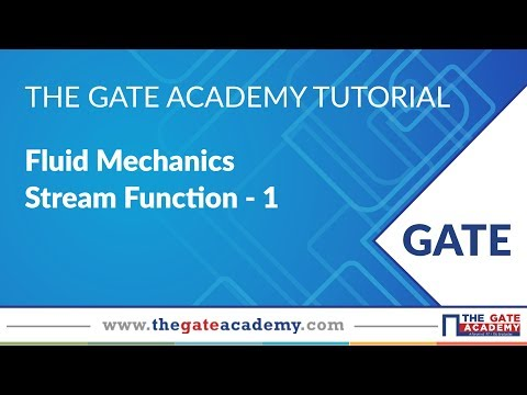 Stream Function - 1 | Fluid Mechanics | ME/ CE