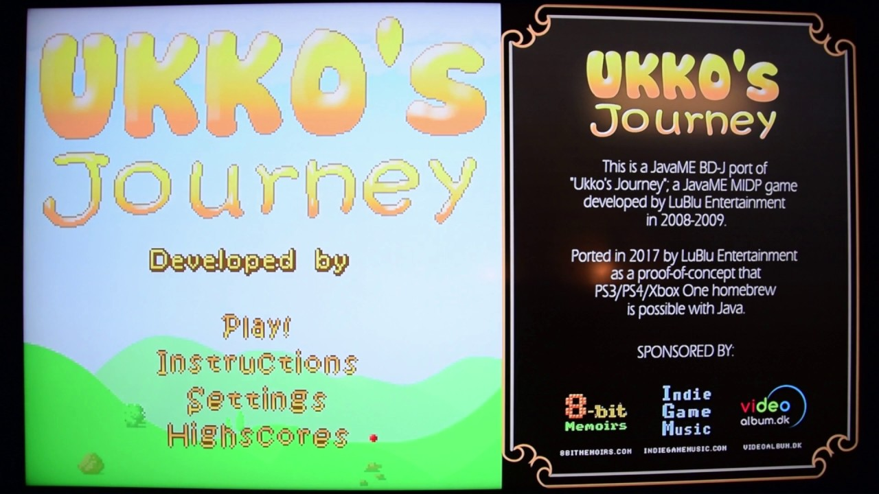 PS3 Blu-ray Disc Java (BD-J) Game Ukko's Journey Preview
