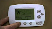How to change the batteries in a honeywell thermostat youtube 1035 fandeluxe Gallery