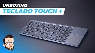 Um teclado portátil COM TRACKPAD!