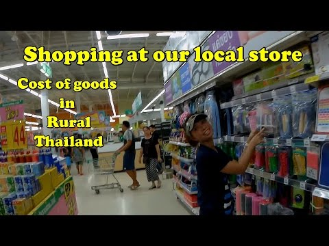 Cost of goods in Thailand at Small store in Isaan.