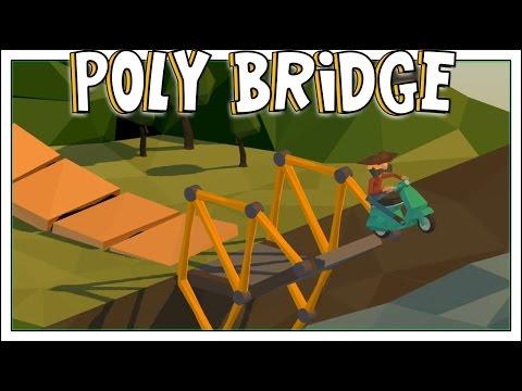 SquiddyPlays - Poly Bridge - CRAZY JUMPS! [1]