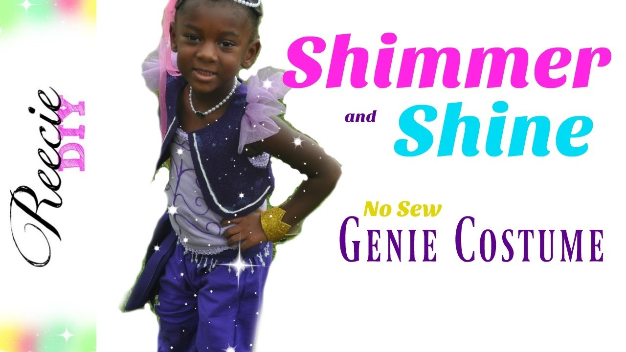 sc 1 st  YouTube & How to make a Shimmer and Shine Costume (NO-SEW) - YouTube