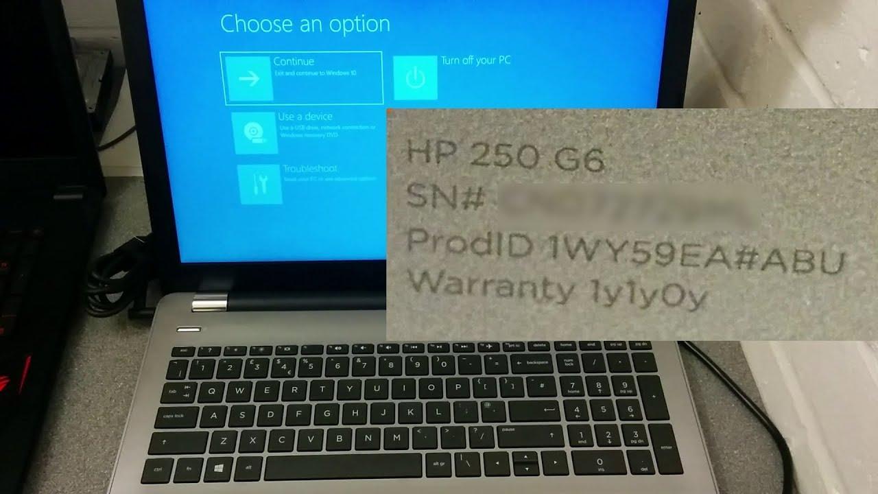 Hp Shipping A Broken Windows 10 Install On The Uk Hp 250 G6 Laptop