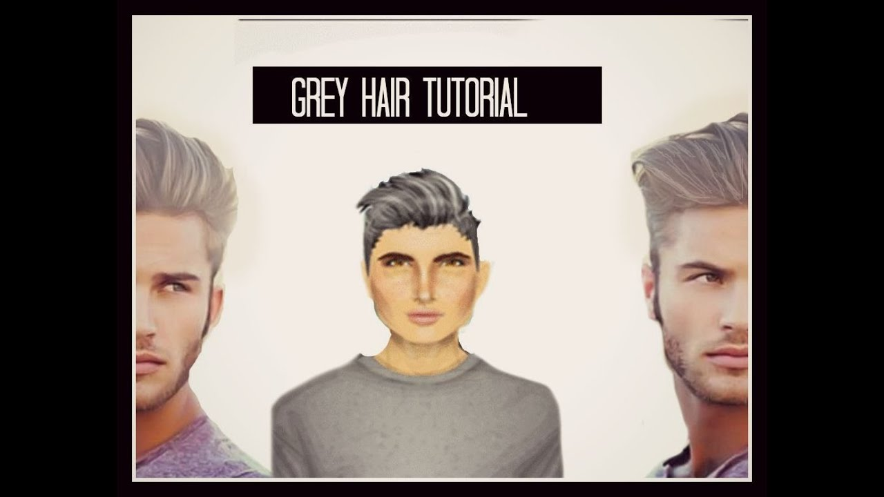 Grey Hair TUTORIAL//For Men//   YouTube
