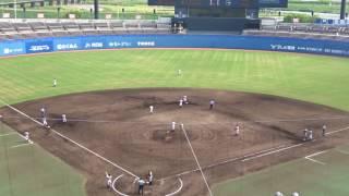 松山聖陵高校1回裏の攻撃、2アウトランナー2塁 vs済美高校(準決勝第2試合) thumbnail