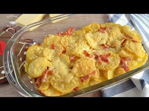 Cómo hacer patatas con beicon y queso. Increíblemente fáciles!