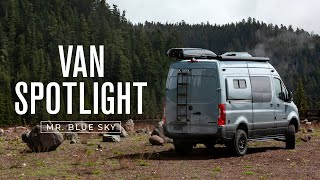 VAN SPOTLIGHT: Mr. Blue Sky | Outside Van 4WD Mercedes-Benz Sprinter 144 Van Conversion Tour