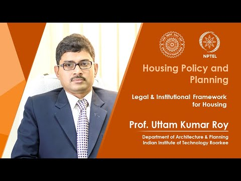 Legal & Institutional Framework for Housing
