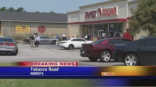 NOON LIVE Clerk shot in armed robbery at Family Dollar on Tobacco Road