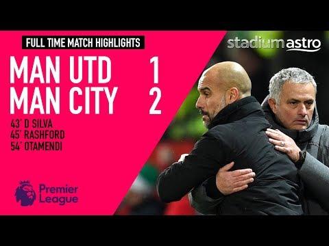 FT Manchester Utd 1 - 2 Manchester City
