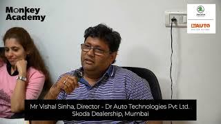 Testimonial from Mr Vishal Sinha - Dr Auto Skoda Dealership Mumbai   Workshop on Digital Marketing