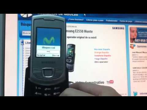 Liberar Samsung E2550 Monte