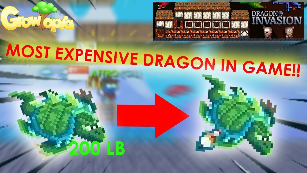 Growtopia Obtaining The Most Expensive Dragon In The Game Lucky Youtube