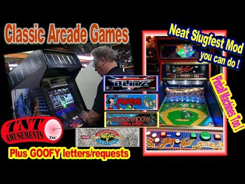 #1473 Konami ALIENS-Atari BLACK WIDOW-Arcade Games-Williams SLUGFEST Baseball-TNT Amusements